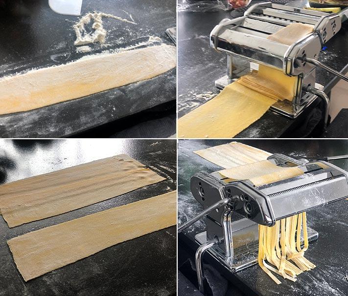 Abaissement et découpe des pâtes