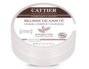 Découvrez le beurre de karité Cattier 100% biologique.