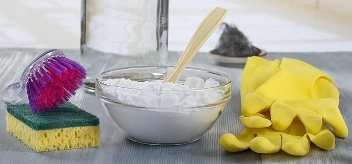 Nettoyage avec du bicarbonate