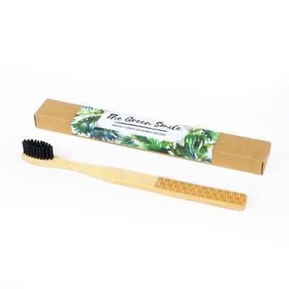Brosse à dents en bambou écologique pour adulte marque the green smile