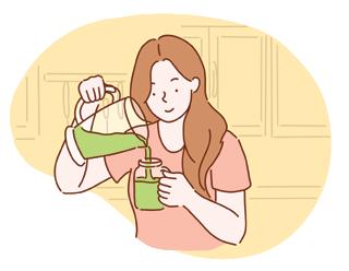 Cure détox à la maison : boire des jus frais