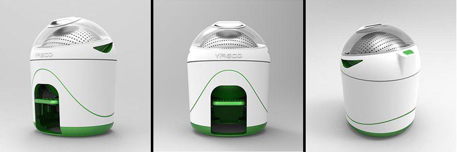 le lave linge écologique Drumi qui ne prend pas de place et qui fonctionne sans électricité.