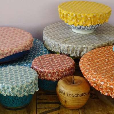 Les couvres bol fabriqués par la créatrice Bila Touchatou sur Etsy