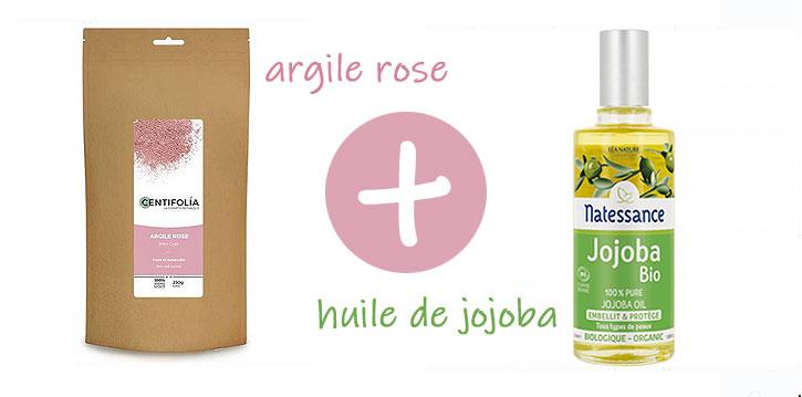 argile rose et huile de jojoba