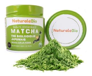 Thé matcha natural bio
