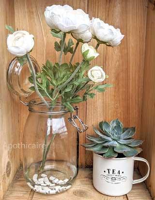 perle de céramique fleurs