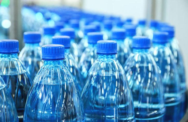 plastique des bouteilles d'eau