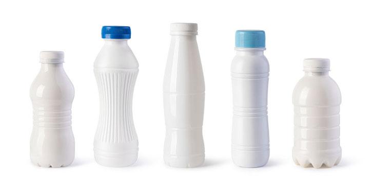 Bouteille lait plastique
